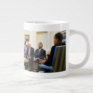 Newt Gingrich, Barack Obama, Jarrett & Sharpton Large Coffee Mug