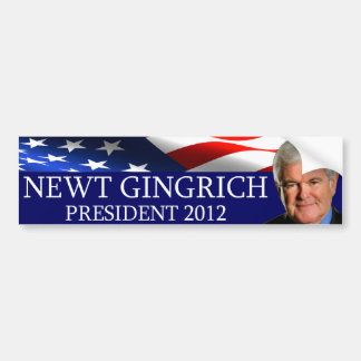 Newt Gingrich President 2012 Bumper Sticker