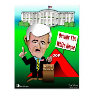 Newt Occupy White House Postcard
