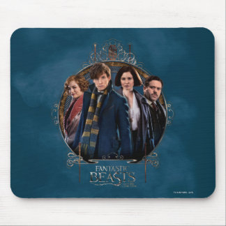 NEWT SCAMANDER™ and Company Art Nouveau Frame Mouse Pad