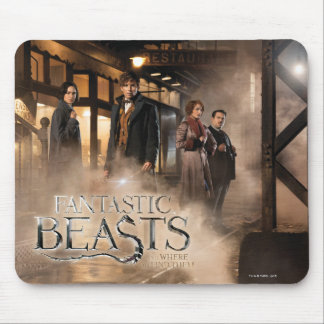 Newt Scamander & Co. At The Train Station Mouse Pad