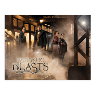 Newt Scamander & Co. At The Train Station Postcard