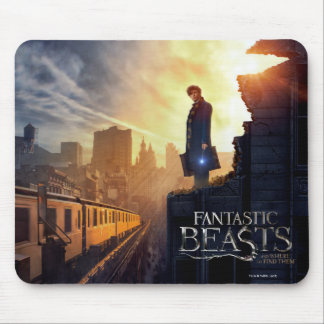 Newt Scamander in Destroyed Building Mouse Pad