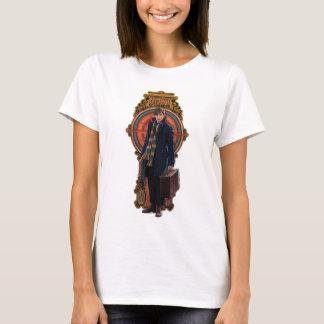 Newt Scamander Standing Art Nouveau Panel T-Shirt