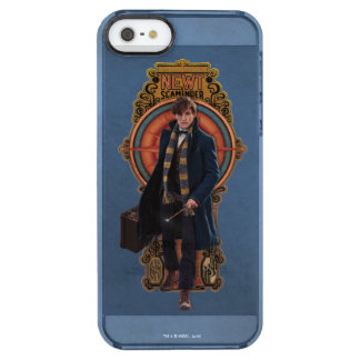 NEWT SCAMANDER™ Walking Art Nouveau Panel Clear iPhone SE/5/5s Case