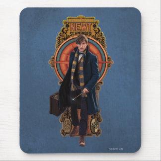 NEWT SCAMANDER™ Walking Art Nouveau Panel Mouse Pad