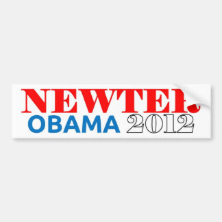 Newter Obama 2012 Light Blue Bumper Sticker