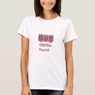 Newton law  of motion Red Color T-Shirt