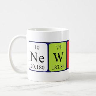 Newton periodic table name mug