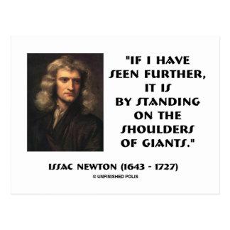 Newton se tenant sur les épaules de Giants Carte Postale