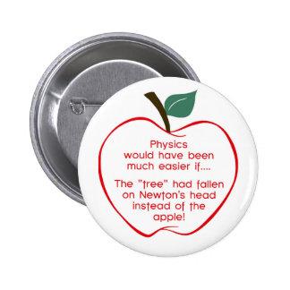 Newton's apple 2 inch round button