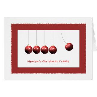 Newton's Christmas Cradle - Greeting Card