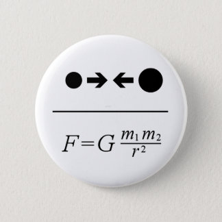 Newton's Law Of Gravitation 2 Inch Round Button