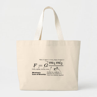 Newton's Law of Universal Gravitation Large Tote Bag