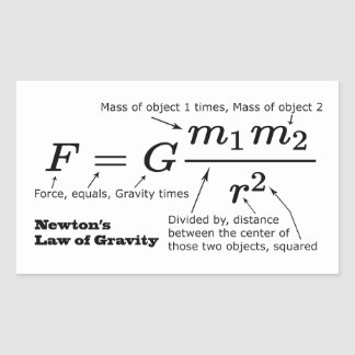 Newton's Law of Universal Gravitation Sticker