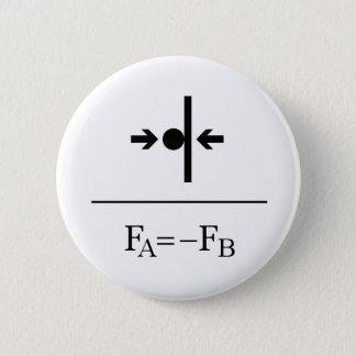 Newton's Third Law 2 Inch Round Button