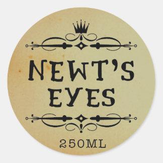 Newts Eyes Vintage Apothecary Halloween Labels