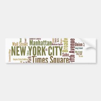 NewYork Bumper Sticker