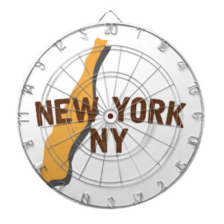 Newyork NY Dartboard With Darts