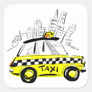 newyork taxi square sticker