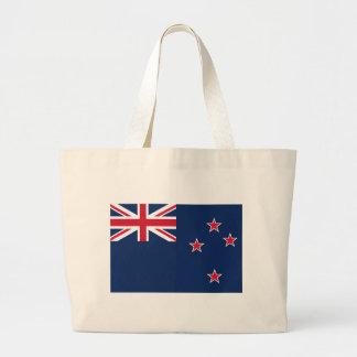 newzealand flag large tote bag