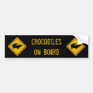 next 10 km crocodiles bumper sticker