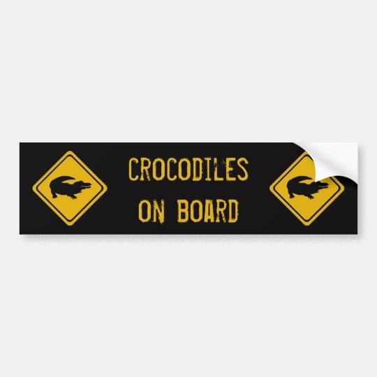 next 10 km crocodiles bumper sticker