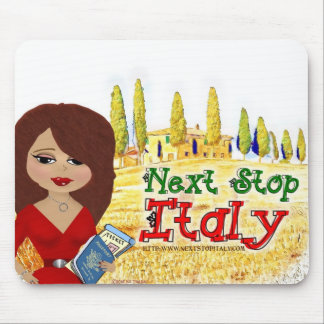 Next Stop Italy Logo Mouspad Mouse Pad