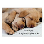 Next To You-My Favourite Place l Puppy Love Card