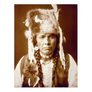 Nez Percé with furcap Postcard