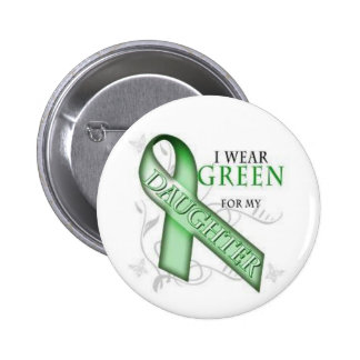 NF1, Neurofibromatosis Awareness - Green Ribbon 2 Inch Round Button