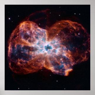 NGC 2440 Last Hurrah star NASA Poster