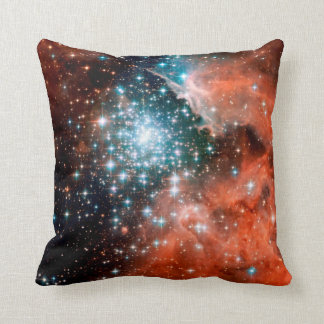 NGC 3603 Star Forming Region - Hubble Space Photo Throw Pillow