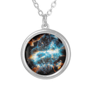 NGC 5189 Planetary Nebula - Hubble Space Photo Silver Plated Necklace