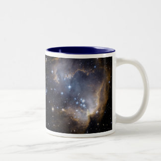 NGC 602 bright stars NASA Two-Tone Coffee Mug
