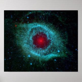 NGC 7293 The Helix Nebula NASA Poster