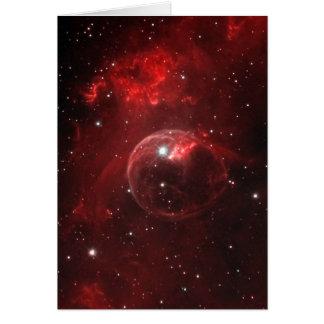 NGC 7635 Bubble Nebula Cassiopeia Card
