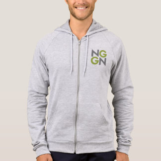 NGGN Zip Up Hoodie Men's Heather Gray
