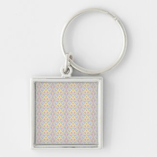 ngjjvbn480 Silver-Colored square keychain