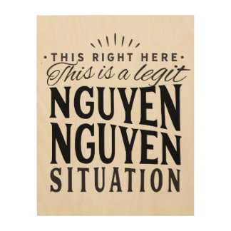 Nguyen Nguyen Situation Wall Art on Wood