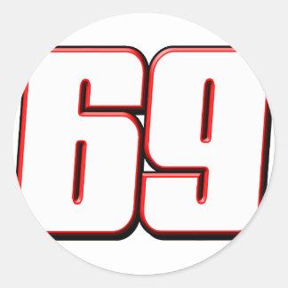 NH69white Round Sticker