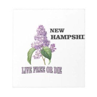 NH live free or die Notepad