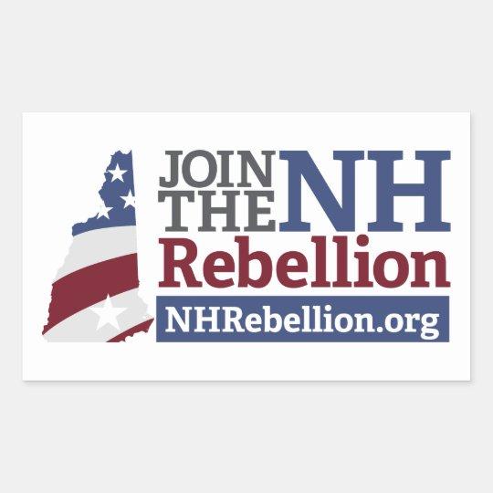 NH Rebellion Rectangle Sticker