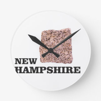 NH rock Round Clock