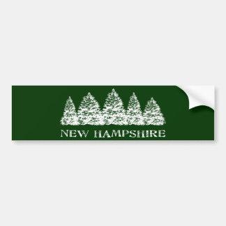 NH Winter Evergreens Bumper Sticker