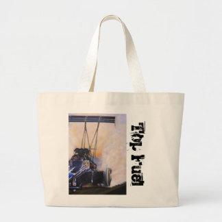 nhra dragster top fuel large tote bag