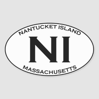 NI - Nantucket Island Massachusetts Oval Sticker