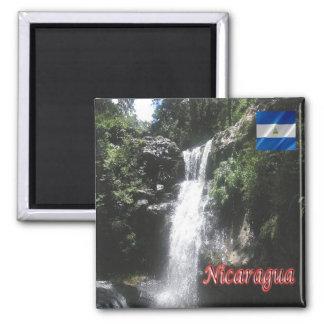 NI - Nicaragua - Waterfall in Cerro Apante Square Magnet
