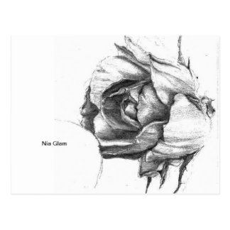 Nia Glam - Heart of the Rose Postcard