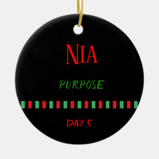 Nia - Kwanzaa Day 5   Ornament